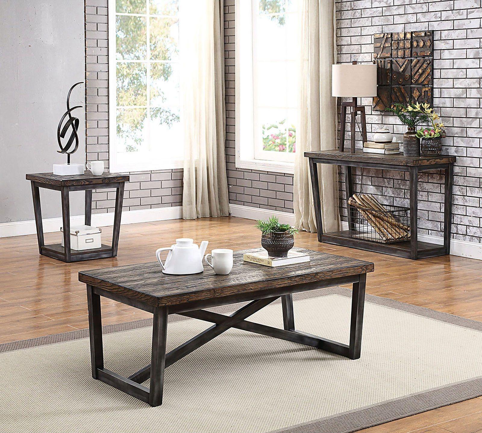 Sixten Coffee Table Cm4378c Furniture Of America Coffee Tables Coffee Table 3 Piece Coffee Table Set Industrial Design Style [ 1438 x 1600 Pixel ]