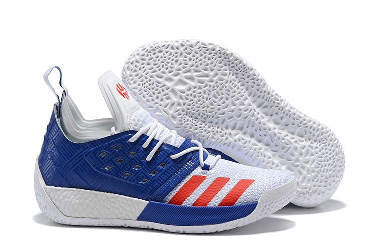 "reputable site b3d66 0eea8 New adidas Harden Vol. 2 ""USA"" Mystery Ink Ftwr White-Blue Tint AQ0026"