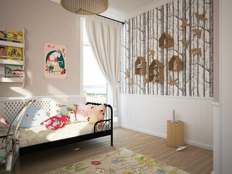 Déco chambre enfant avec papier peint et sticker mural- 27 photos!