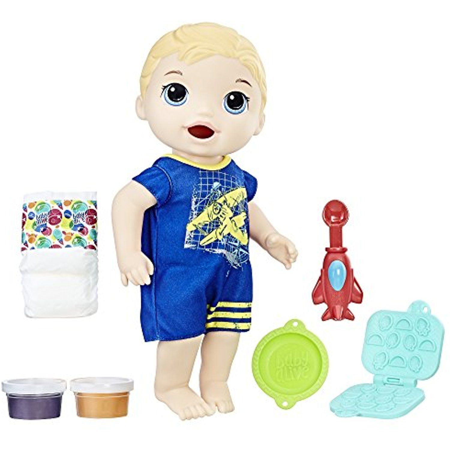 Baby Alive Super Snacks Snackin Luke Blond Be Sure To Check Out This Awesome Product This Is An Affil Baby Doll Accessories Baby Alive Baby Alive Dolls