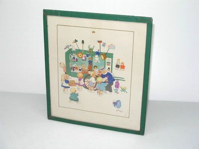 Vintage Josette Boland Toy Wagon Print Childs Book Illustrator | eBay