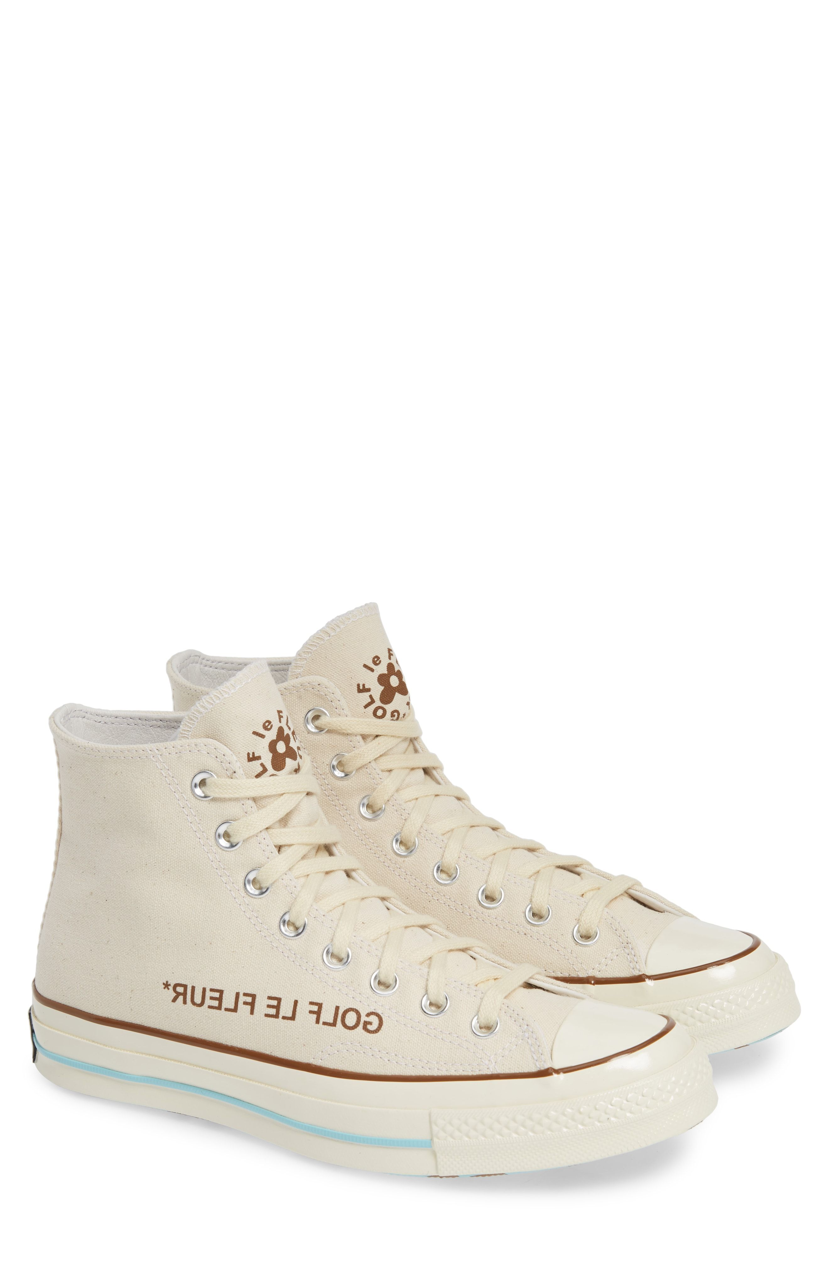 Converse X Golf Le Fleur Chuck 70 High Top Sneaker In Parchment Egret Black Canvas Modesens Sneakers Converse High Top Sneakers