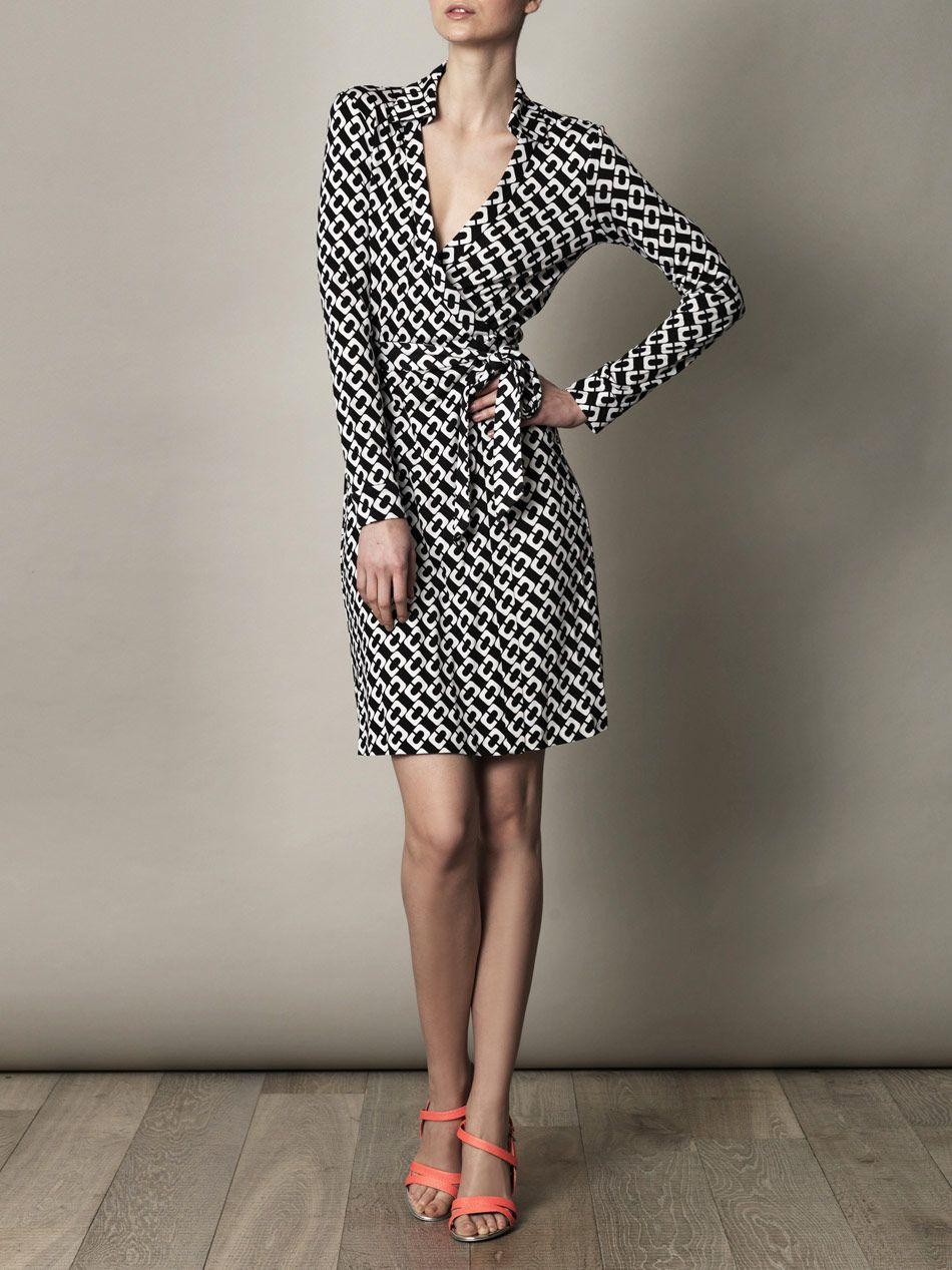 f9ef16bb414 Diane Von Furstenberg New Jeanne Two dress for women