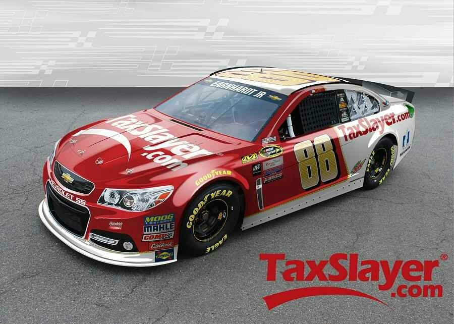 2016 #88 TaxSlayer.com Chevrolet SS Paint Scheme Of Dale Earnhardt Jr