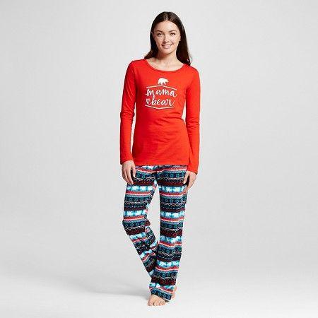 Women's Mama Bear Pajamas Anthem Red M, Orange | Pyjamas, Target ...
