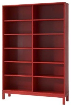 logo lick salt red painted bookcase beautiful lessons