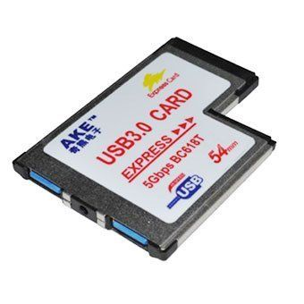 Ake 5gbps bc618t 54mm 2 port usb 3 0 laptop express card - Can a usb 3 0 be used in a 2 0 port ...