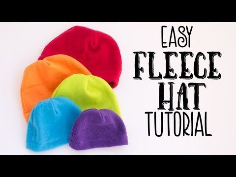 Basic Fleece Hat Pattern and Tutorial ♥ Fleece Fun  24ad1bf06dd