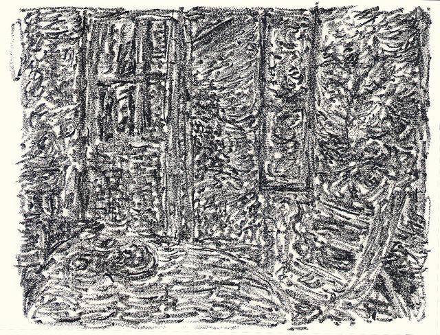 Pierre Bonnard constant density re-drawing, composition from \