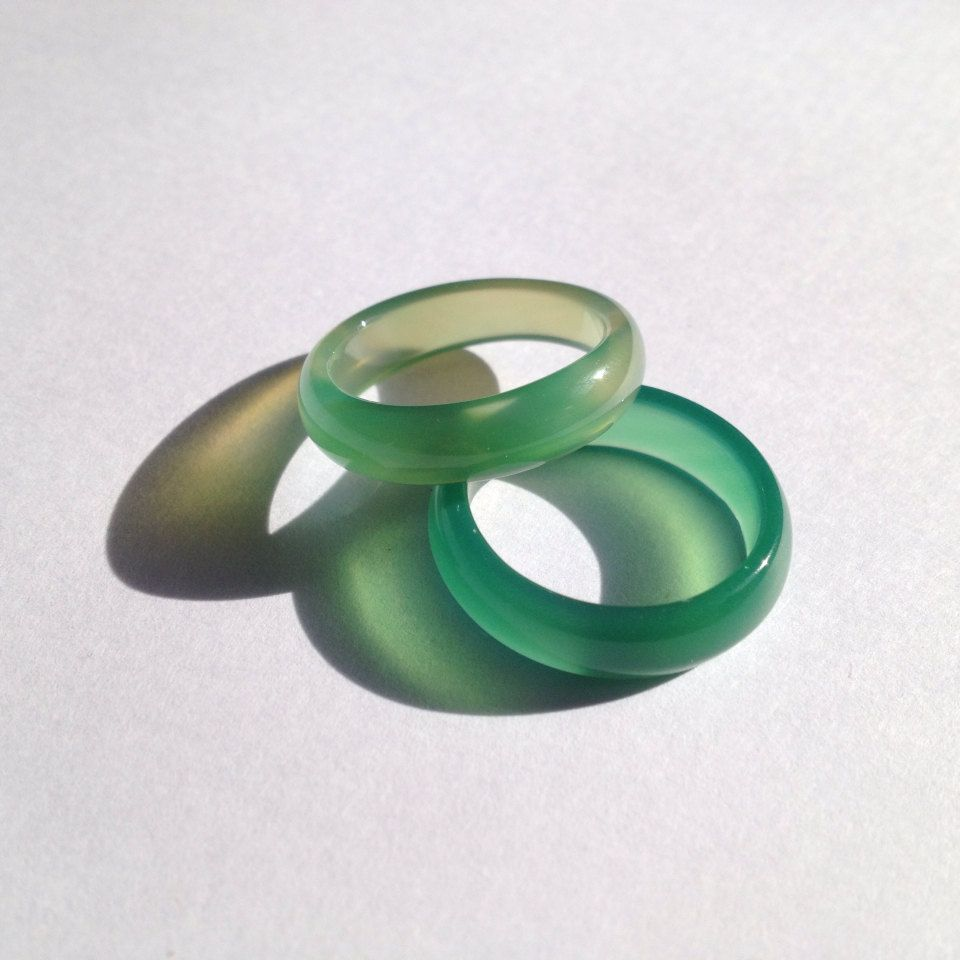 Light Green Jade Ring Size US 6.75  8.25 by LAAALAAAland on Etsy, $5.00