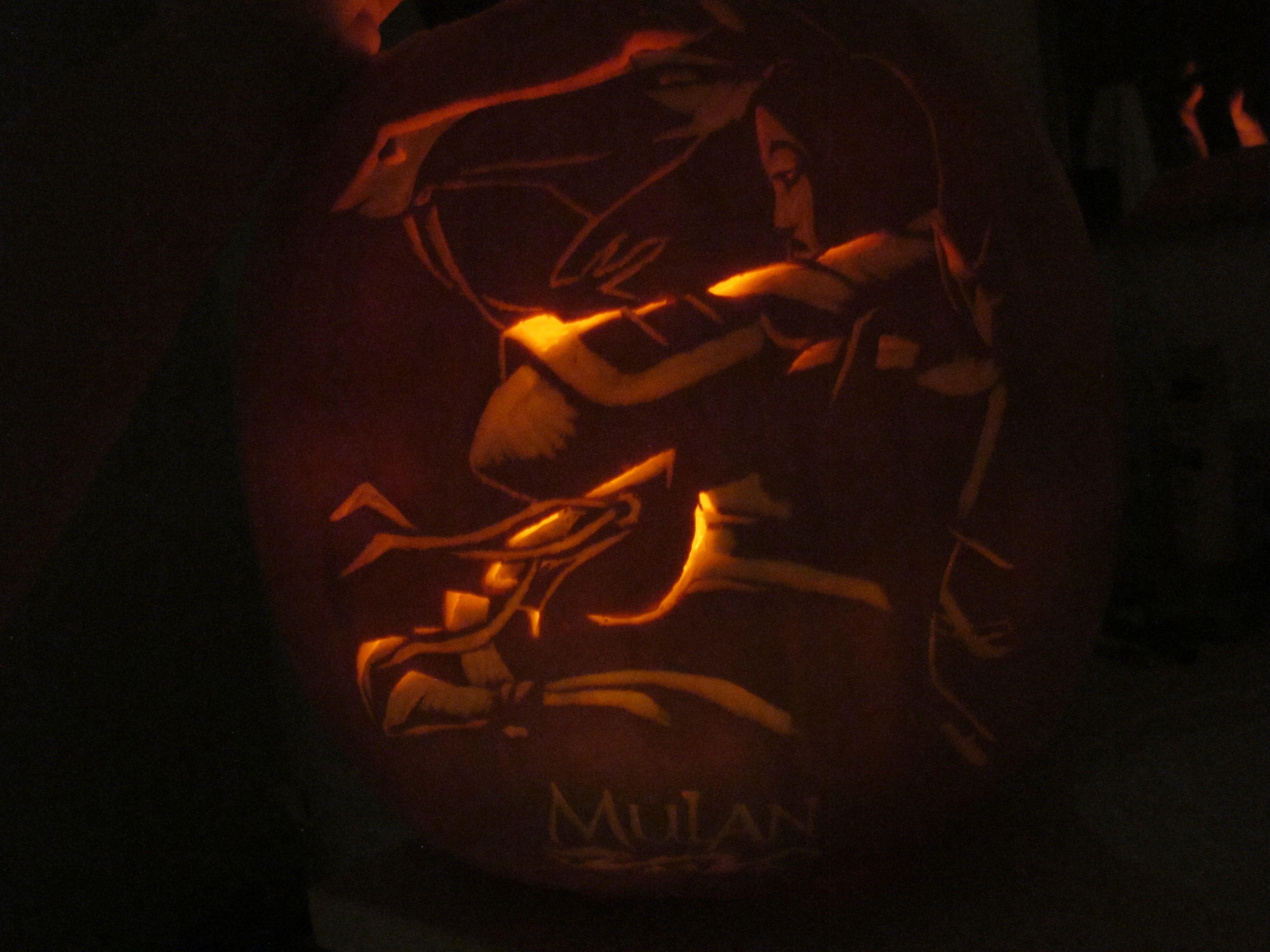 Wa walking dead pumpkin stencil - Mulan Pumpkin Carving For Halloween