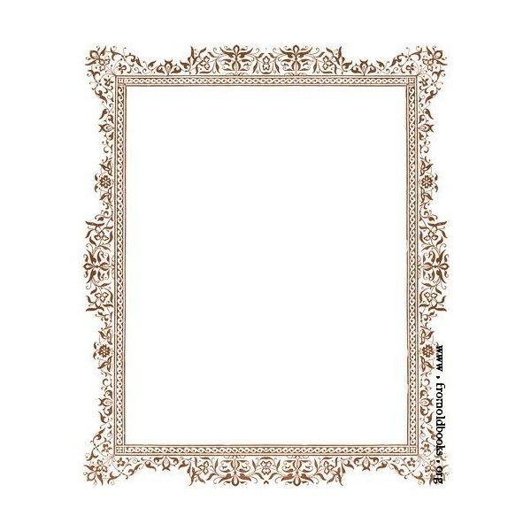 decorative clip art victorian border antique brown image 415x500 rh pinterest com