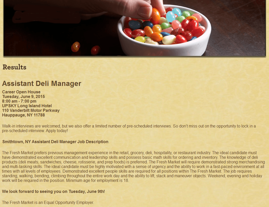 assistant deli manager jobs in smithtown ny asst deli manager job smithtown ny new grocery market store career event 06092015