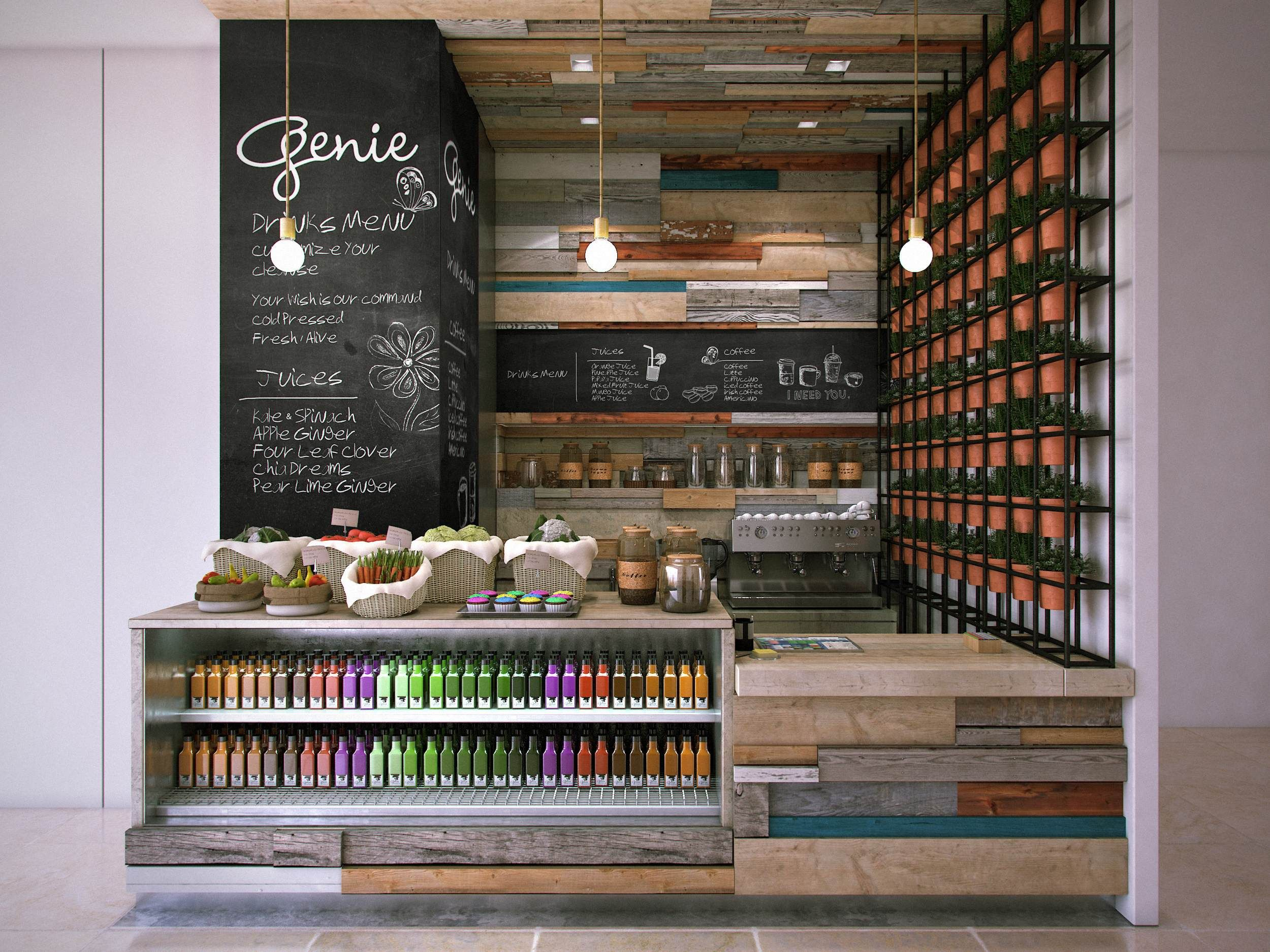 Genie juice bar mitchel squires associates architecture interior design