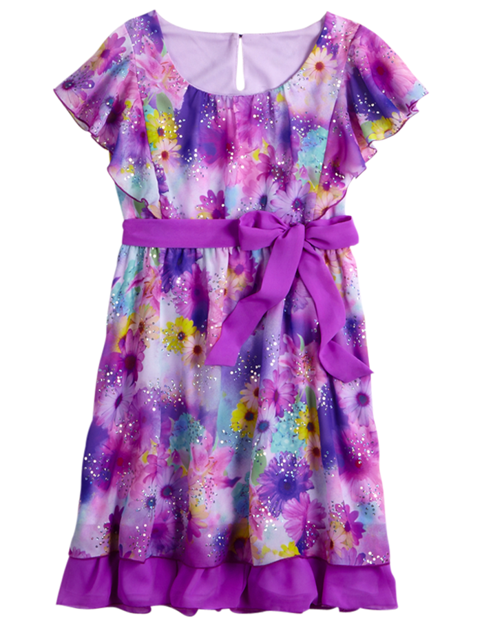 c698b6b9e Flutter Sleeve Floral Dress