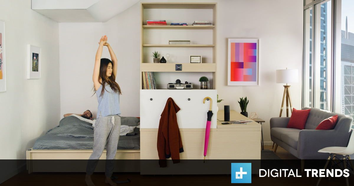 Turn your bedroom into a living room and a study with Ori smart
