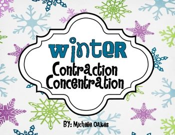 FREE! Your students will have fun matching the contraction to the two words that make it, while playing a game of memory.  ...