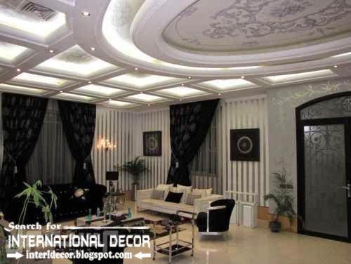 Modern Interior Decoration Living Rooms Ceiling Designs Ideas: Modern Pop False Ceiling Designs Ideas 2015 Led Lighting