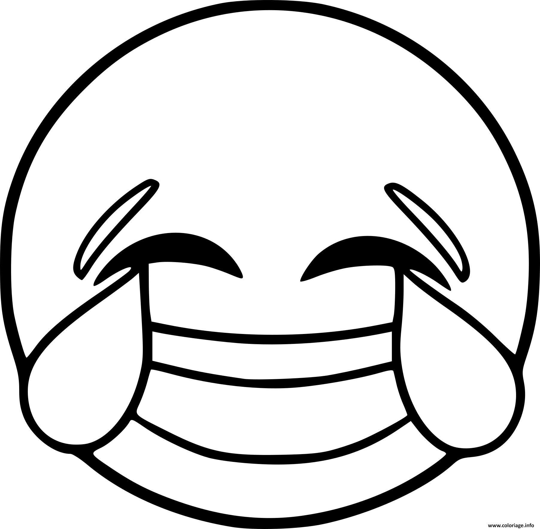 Coloriage Smiley Emoji Rire Dessin Nouveau Coloriage Smiley Emoji ...