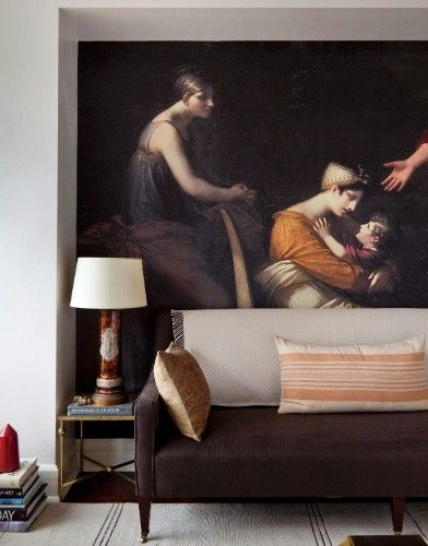 A photo of a Pierre-Paul Prud'hon painting blown up to mural-size! via The New Victorian Ruralist: The Ingenuity of Raji Radhakrishnan...
