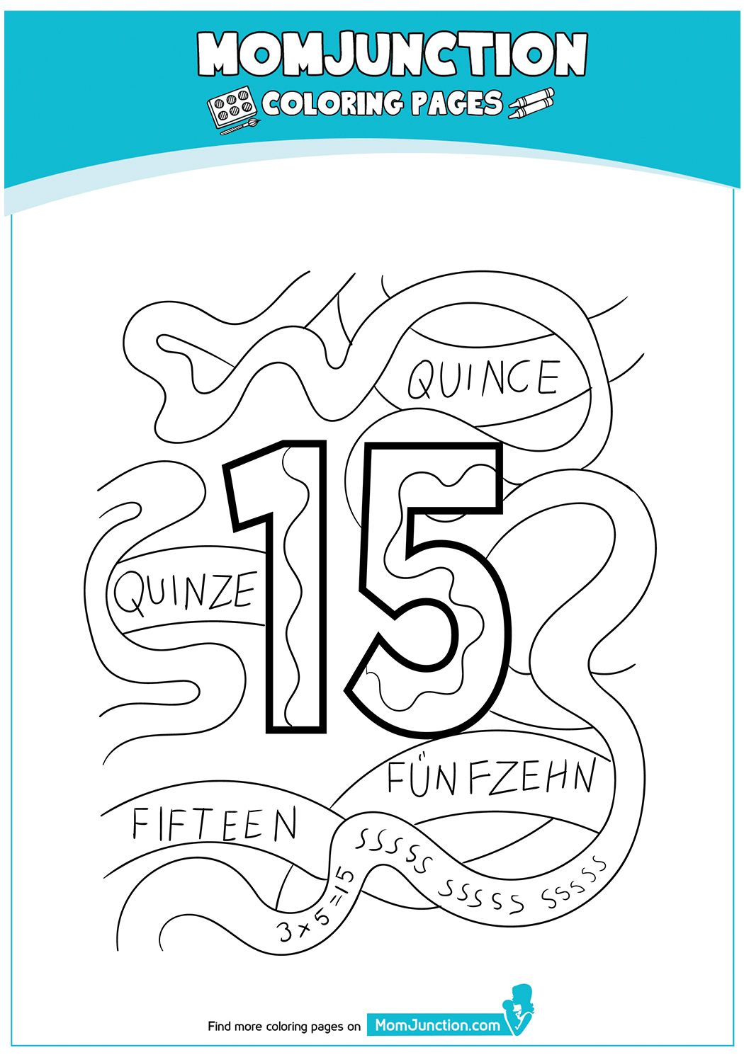 21 Easy To Learn Number Coloring Pages For Your Little