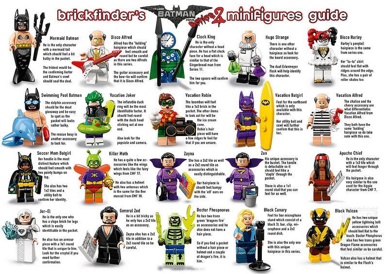 Lego Batman Movie Series 2 Minifigure Feel Guide Lego Batman Movie