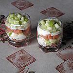 Recette de Verrines apéritives au saumon et chèvre frais