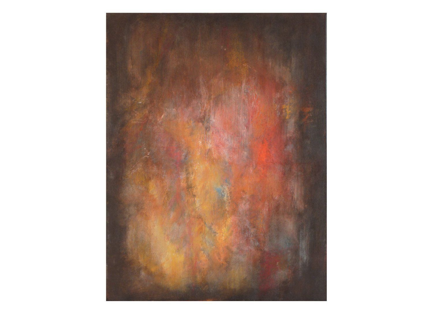 Tableau Moderne Vertical Tableau Abstrait Vertical Orange Jaune Rouge Noir Original Moderne