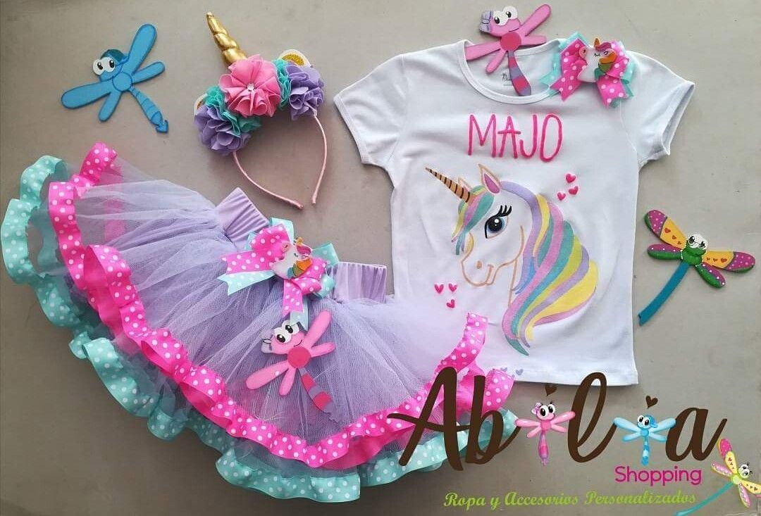 Conjunto tuttu niña Personalizados unicornio Abilia Shopping Whatsapp  3132196957 . 4606575bd14