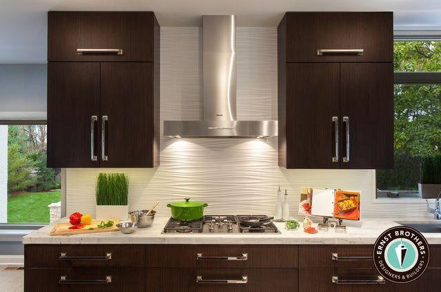 Wavy Backsplash Contemporary Kitchen Kitchen Design Small Kitchen Designs Layout