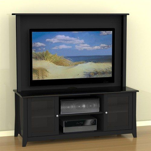 Nexera Tuxedo Entertainment Center In Black Lacquer 500 00 Tv Stand Black Tv Stand Cool Tv Stands