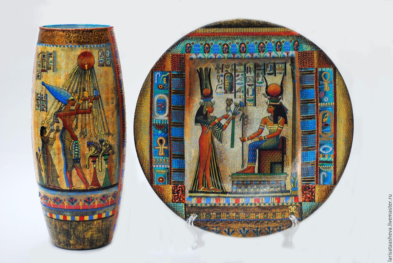 древний египет узор тарелка картинки загадочных