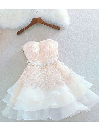 Cute A Line Sweetheart Spaghetti Straps Blush Short Homecoming Dresses With Appliques Hd0813003 Cute Prom Dresses Homecoming Dresses Short Prom Dresses Short,Wedding Guests Dresses 2020