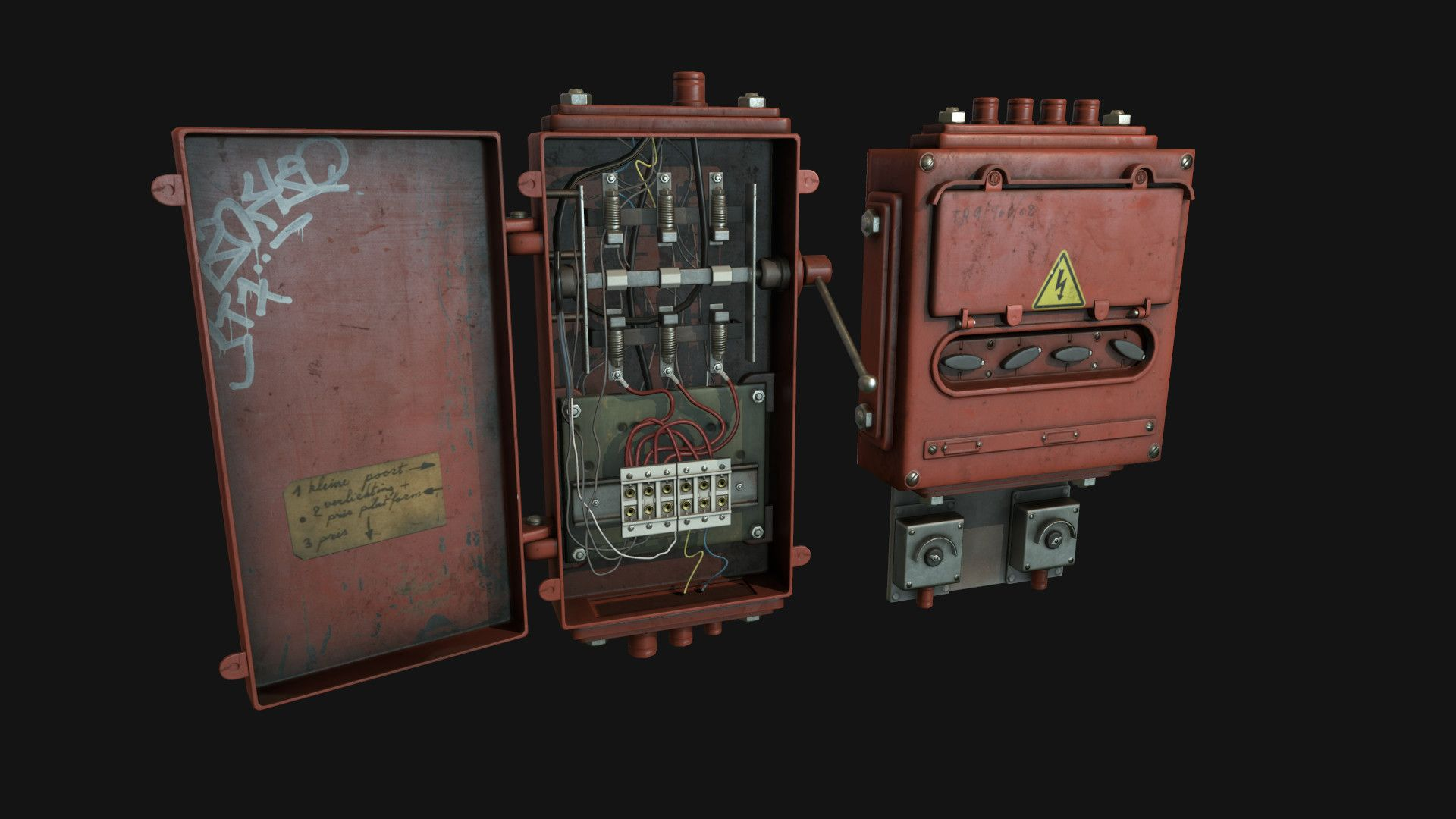 Artstation Fusebox Oleg Tsitovich Textures Materials Fuse Box Art Cg Artwork Game Props 3d