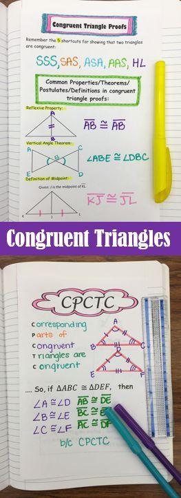 Congruent Triangle Proofs- Student Notes (Including CPCTC) | High ...