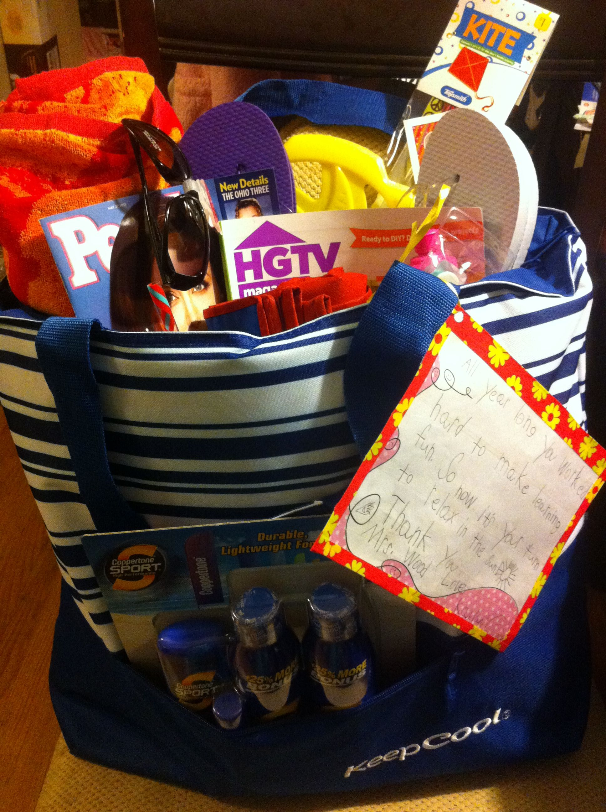 Kindergarten Teacher End Of Year Appreciation Gift Summer
