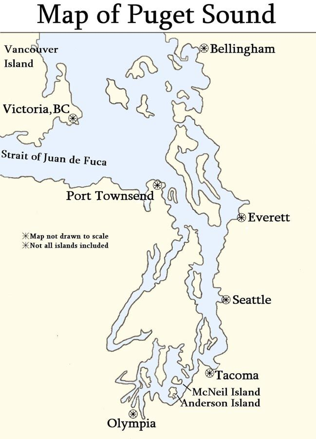 Map Of The Puget Sound  Learn more about Puget Sound at www