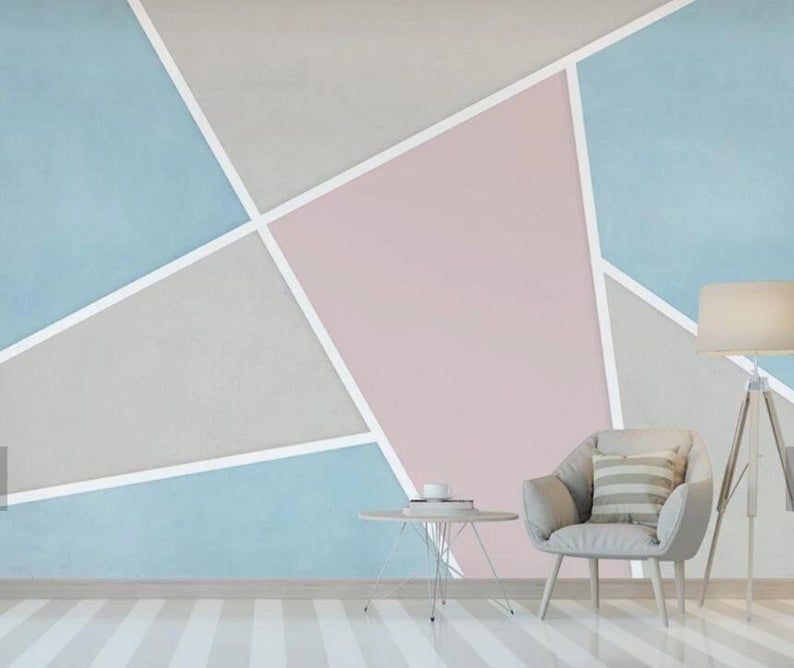 3d Minimalist Single Color Abstract Color Block Wallpaper Removable Self Adhesive Wallpaper Wall Mural Vintage Art Peel And Stick Bedroom Wall Paint Bedroom Wall Designs Geometric Wall Paint