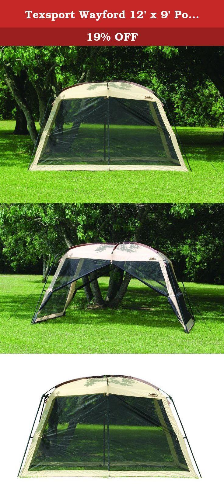 Texsport Wayford 12u0027 X 9u0027 Portable Mesh Screenhouse Arbor Canopy For  Backyard And Camping