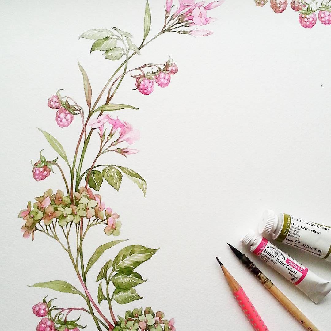 Workinprocess Workinprogress Watercolor Aquarelle Drawing