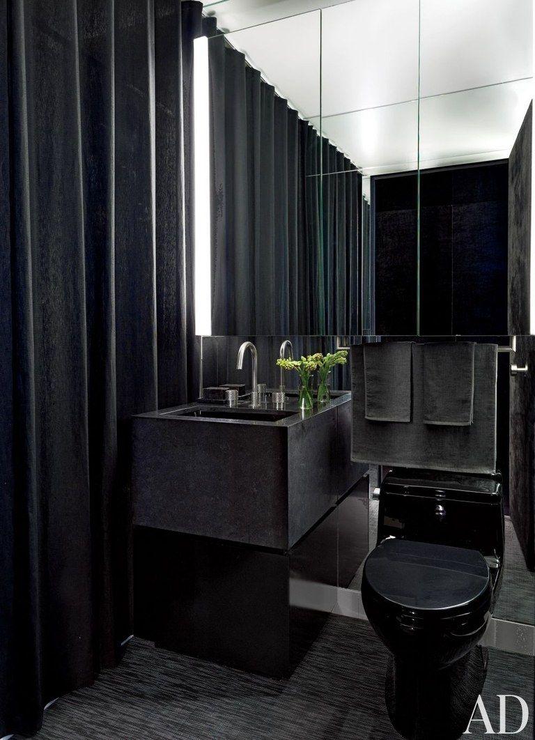 33 Small Bathroom Ideas To Make Your Bathroom Feel Bigger Bathroom Interior Dark Bathrooms Small Bathroom