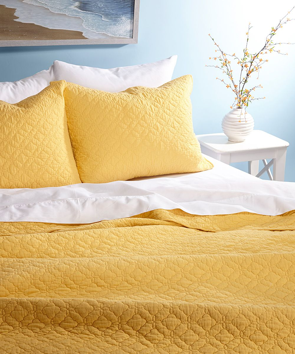 Yellow Quilt Set | Color - Buttercup Yellow | Pinterest | Bedrooms ...