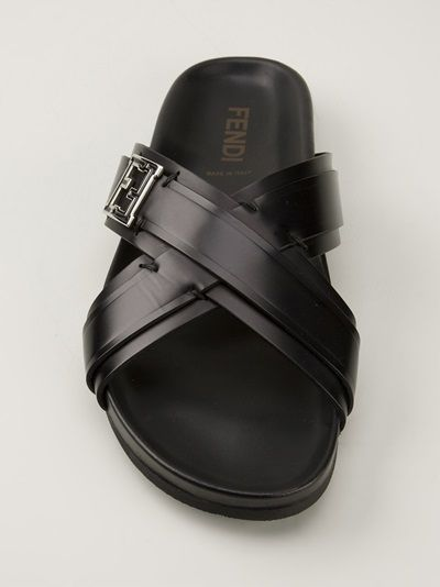 d253114f2e4e Fendi - black cross strap sandals