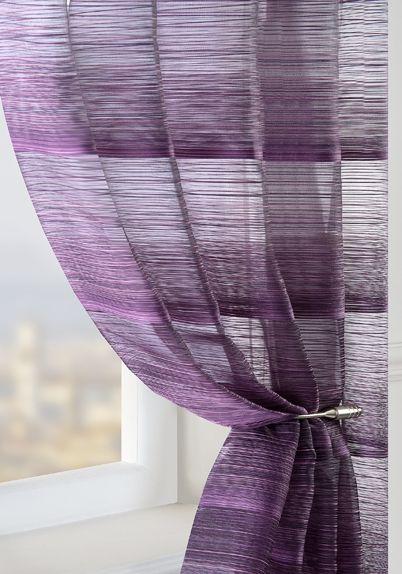 Superb Strata Voile Curtain Panel Plum