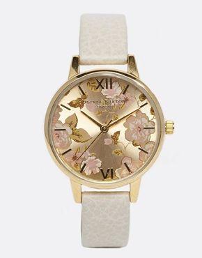 Olivia Burton Mink Floral Watch