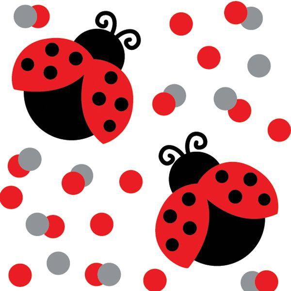 ladybug confetti cute ladybugs pinterest ladybug party rh pinterest com cute pink ladybug clipart cute pink ladybug clipart