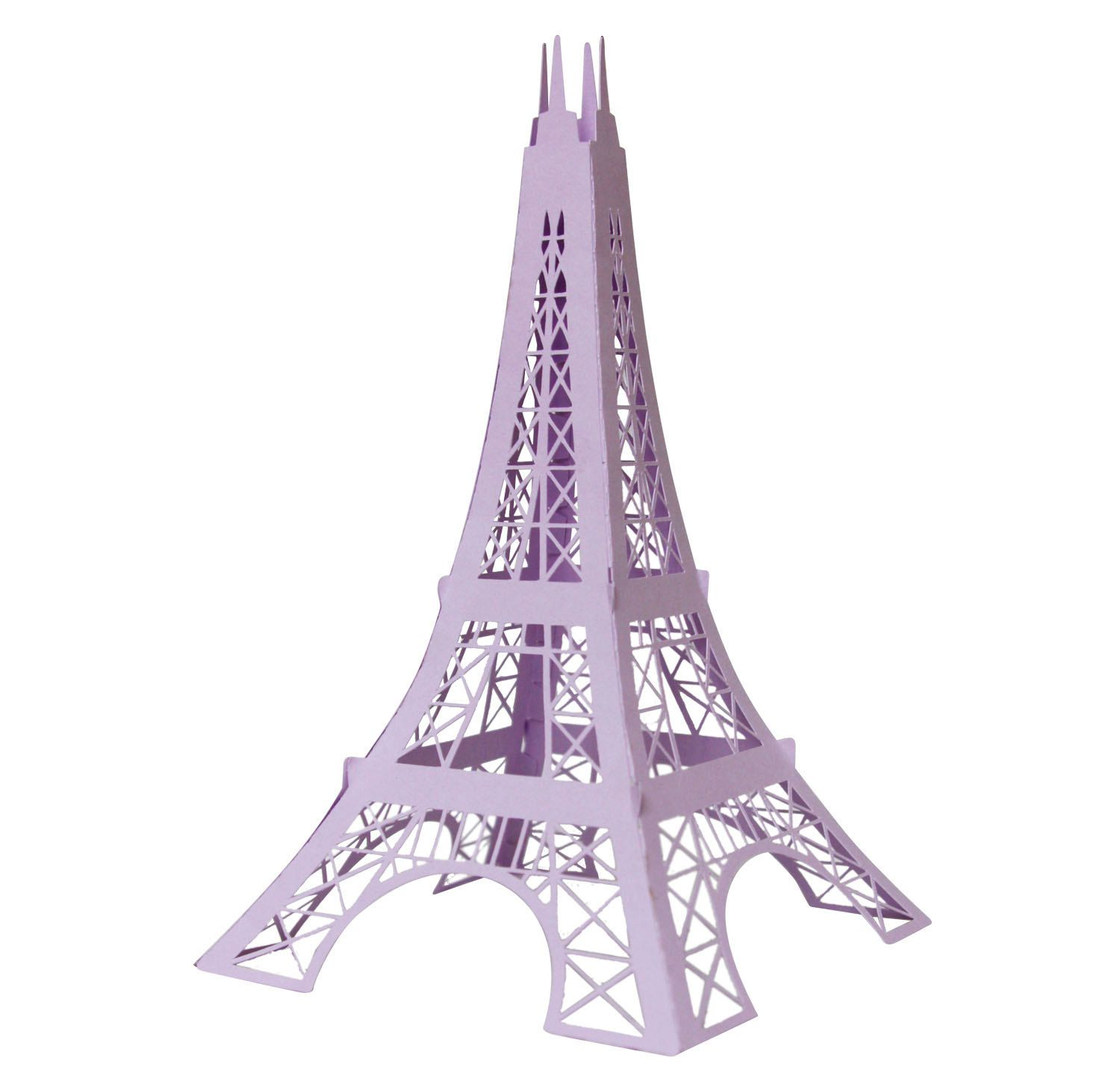 Scrapbook paper eiffel tower - 3d Eiffel Tower Digital Cutting File Svg And Dxf 2 00 Via Etsy