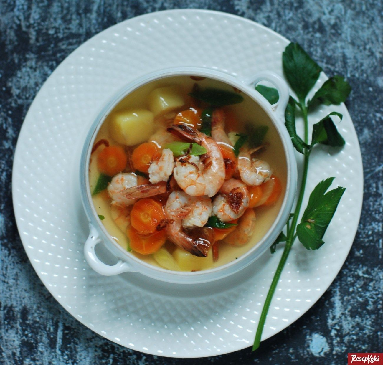 Sup Udang Gurih Bening Simpel Resep Resepkoki Resep Sup Udang Resep Udang Resep