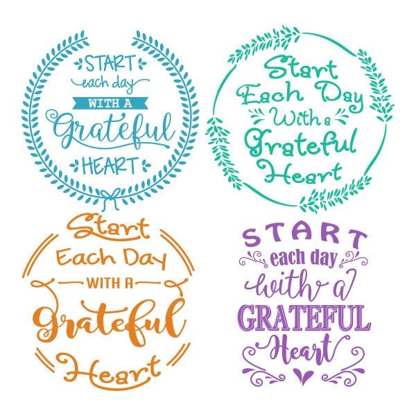 Start Each Day Cuttable Design SVG, DXF, EPS use with Silhouette... ($2.99) ❤ liked on Polyvore featuring home, home decor, cricut and vinyl home decor