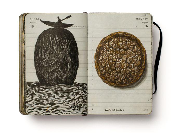 Libretas De Dibujo De Un Artista Freelance: Diario Visual, Cuadernos Y